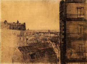 View from Apartment Rue Lepic - Vincent van Gogh 1887