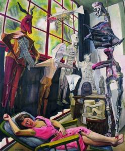 Diego Rivera-Estudio del pintor or Lucila y los judas1954