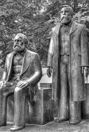 Marx Engels statue Alexanderplatz Berlin