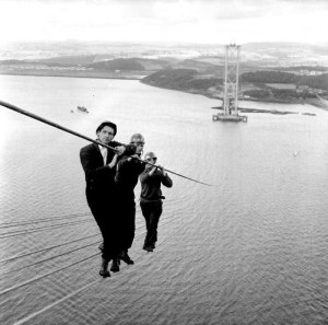 workers Forth Road Bridge 1961