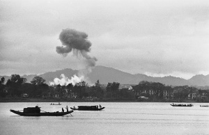 Napalm air strikes Perfume River Hue Vietnam1963