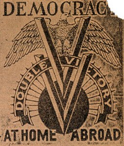 The Pittsburgh Courier double.V.1942 logo