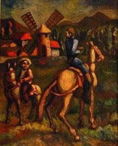 Don-Quijote-y-Sancho1967.Alipio Jaramillo