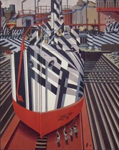 Edward Wadsworth- Drydock Liverpool1919