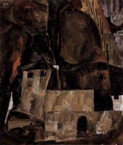 egon-schiele-wall-and-house