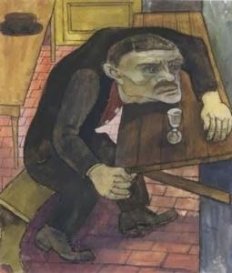 Ernst Thoms- In der Kneipe1922