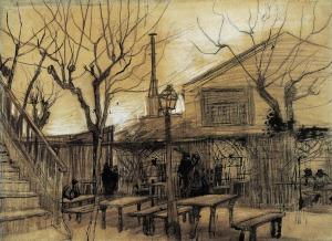 Guinguette - Vincent van Gogh-1886