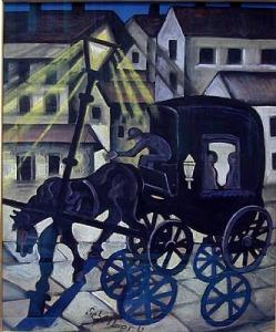 Hugó Scheiber, Carriage at Night1930
