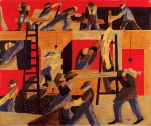 Jacob Lawrence -Builders1947