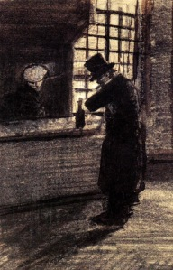 Man in a Village Inn - Vincent van Gogh-1883