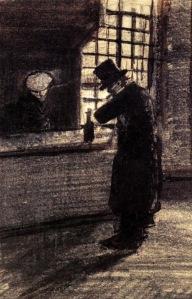 Man in a Village Inn - Vincent van Gogh-1883