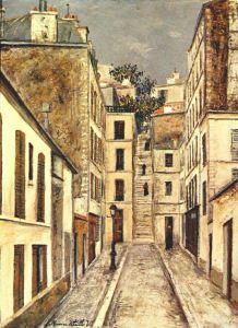 Maurice Utrillo.passage-deadend
