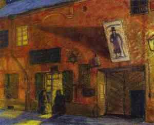 Mstislav Dobuzhinsky.vilnius-nocturnal-scene