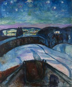 Starry Night 1922 Edvard Munch