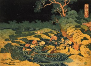 1833.FishingTorchlight Kai Province- Katsushika Hokusai
