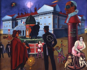 Clovis Trouille-Red Poet.1949