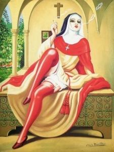 Clovis Trouille-Religieuse italienne1944