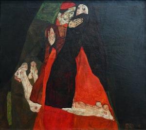 Egon Schiele- Cardinal. Nun1912