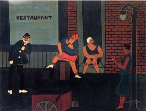 Jacob Lawrence_Street-Scene