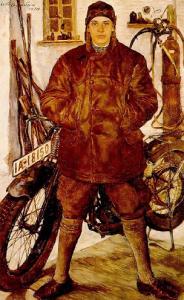 Lotte Laserstein, Motocycliste1929