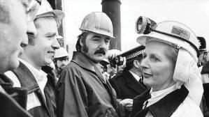 Margaret Thatcher before miners' strike1984