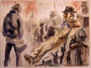 Max Beckmann. The Unemployed.weimar1920s