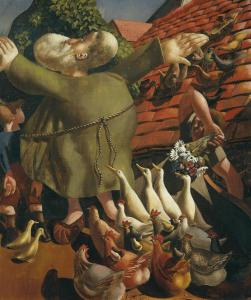 St Francis and the Birds 1935 by Sir Stanley Spencer 1891-1959
