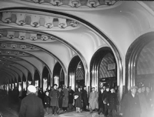 arched Metro subway.moskow1941