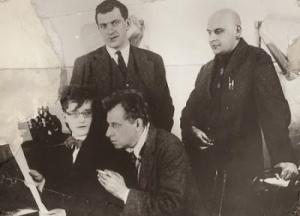 Dmitry Shostakovich, Vsevolod Meyerkhold, Vladimir Mayakovsky. Alexander Rodchenko.1929