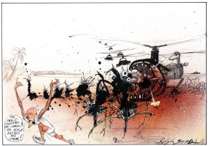 ralph.steadman.peace-keepers-coming