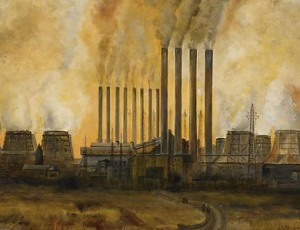 Carlo Mense (1886-1965) Industrielandschaft1944