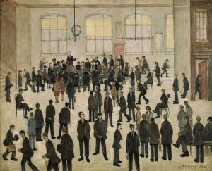 ELECTION-TIME.Laurence Stephen Lowry