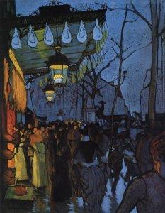 Louis Anquetin.Avenue de Clichy1887
