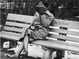 bench 'Only for Jews' Austria1938