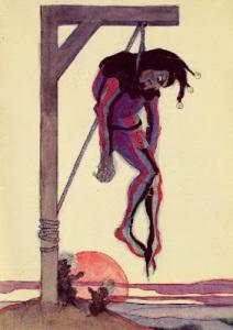 Jeanne Mammen, Der Narr am Galgen1910