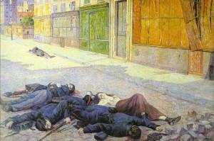 Maximilien Luce -Paris May1871.Commune