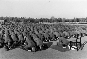 Muslim members Waffen-SS 13th division prayer Germany1943