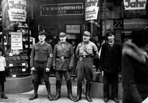 Nazis boycott allegedly Jewish-founded shops1933