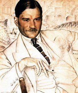 Y.Zamyatin- Boris Kustodiev1923
