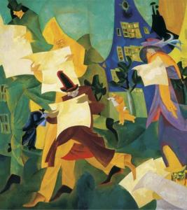 Lyonel-Feininger-Newspaper-Readers