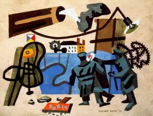Stuart Davis1894-1964.against.war.fascism1936