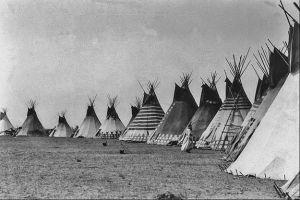 American Indian Native Blackfoot Tipis