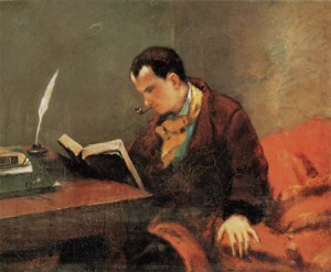 Portrait of Charles Baudelaire.gustave-courbet-1819-1877